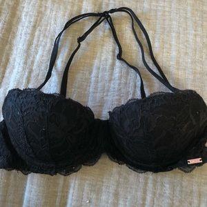 Black Victoria Secret Lace Push Up Bra